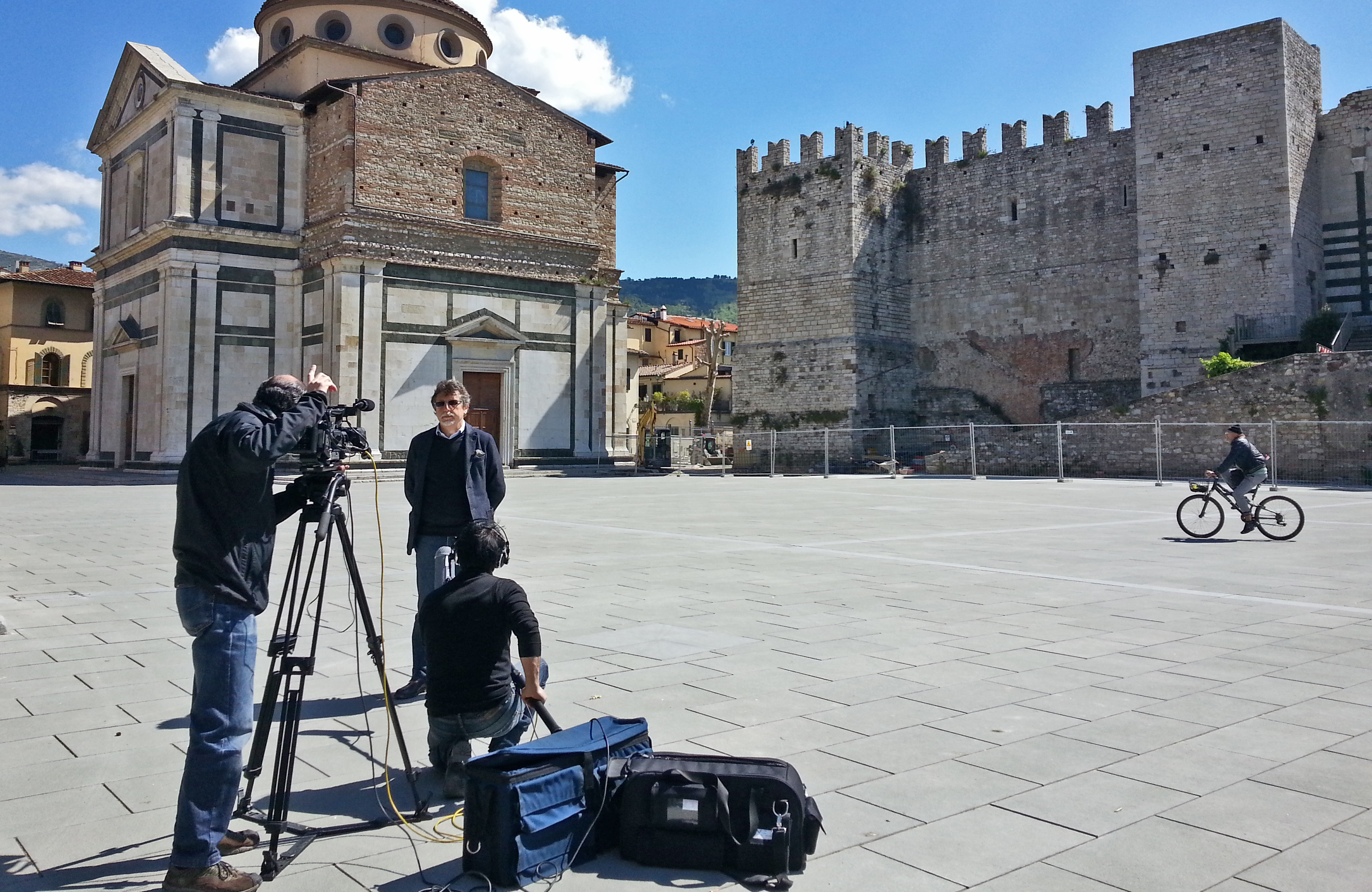 "Making-of del documentario ""Prato. Archeologia in città"""