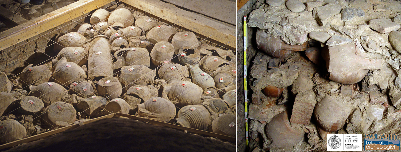 L'eccezionale ritrovamento di ceramiche intere nel San Domenico di Prato.